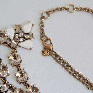 J. Crew Jewelry - J Crew Gold, White, Clear Angle Wing Necklace